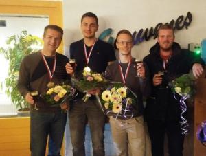 Kampioenen : Ide,Tom, Nick, René en Maikel